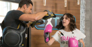 Millie Bobby Brown doing boxing