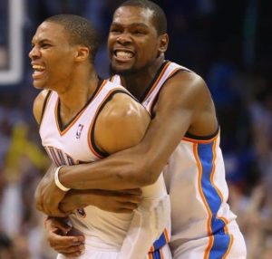 Russell and Kevin Durant