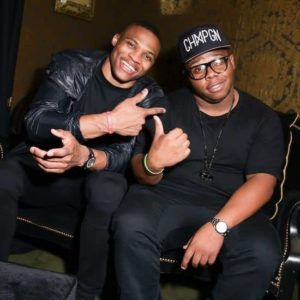 Russell with his brother
