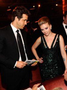 Scarlett Johansson with her ex-husband Ryan
