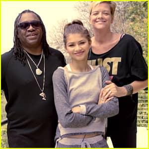 Zendaya z rodzicami