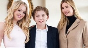 Barron Trump with his sister