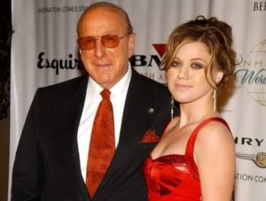 Kelly Clarkson with her father