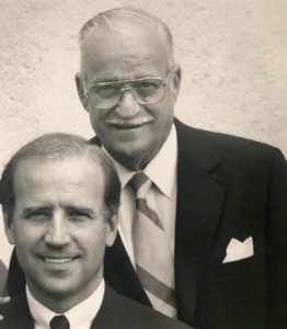 Joe Biden with his father
