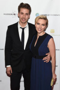 Scarlett Johansson with her brother Hunter