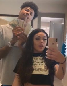 Blueface with his ex-girlfriend Jaidyn