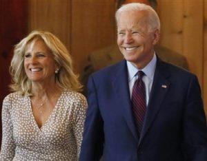 Joe Biden with his wife Jill