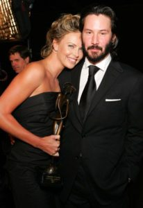 Charlize Theron with her boyfriend Keanu