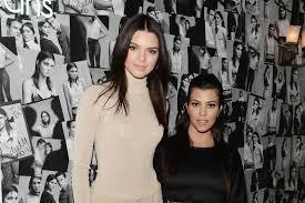 Kourtney Kardashian with her sisters Kendall