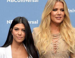 Kourtney Kardashian with her sisters Khloé