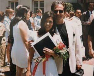 Kourtney Kardashian with her father