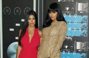 Kourtney Kardashian with her sisters Kylie