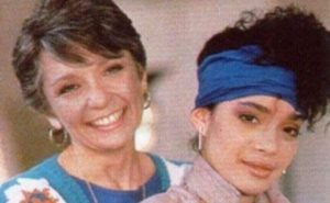 Lisa Bonet with her mother