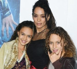 Lisa Bonet with her son & daughter