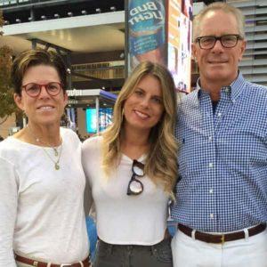 Ashton Meem with her parents