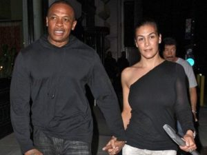 Nicole Young with her husband Dr. Dre