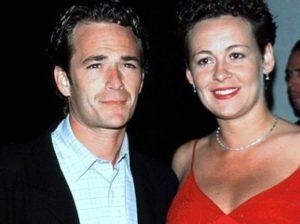 Rachel Sharp with her ex-husband