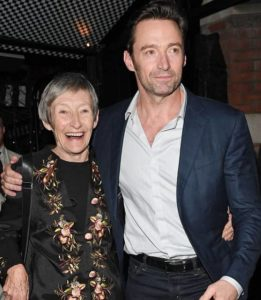 Hugh Jackman with his mother Grace