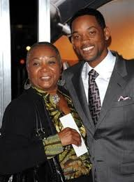 Will Smith with his mother