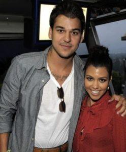 Kourtney Kardashian with her brother