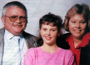 Charlize Theron with her parents