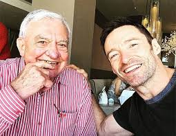 Hugh Jackman with his father Christopher