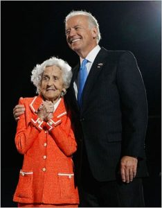 Joe Biden with his mother