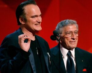Quentin Tarantino with his father