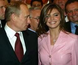 Vladimir Putin with his girlfriend Alina