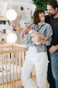 Leanne Ford with her husband & kid