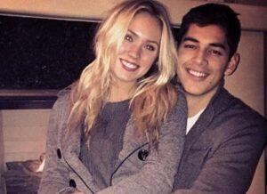 Cassie Randolph with her ex-boyfriend Caelan