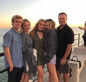 Cassie Randolph with her family