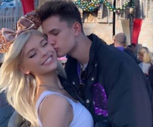 Ian Jeffrey with his girlfriend