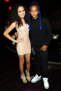 Jaden Smith with his girlfriend Madison