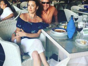 Sara Carter with her husband