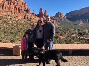 Sara Carter with her husband & kids