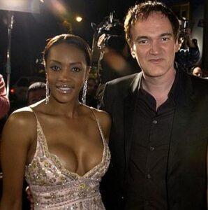 Quentin Tarantino with his ex-girlfriend Vivica