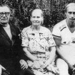 Vladimir Putin with his parents