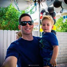 Tarek El Moussa with his son