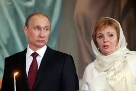 Vladimir Putin with his ex-wife