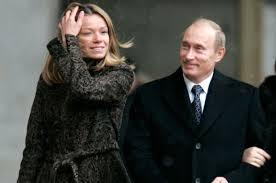 Vladimir Putin with his daughter Maria