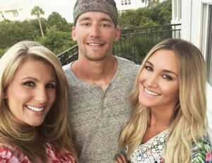 Brittany Kerr with her mother & brother