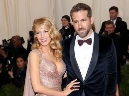 Ryan Reynolds with his wife Blake