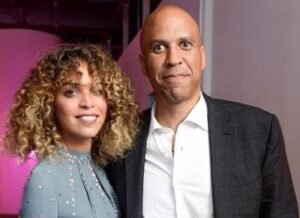 Cory Booker with his girlfriend Cleo