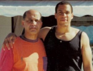 Cory Booker with his father