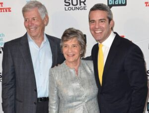 Andy Cohen with his parents