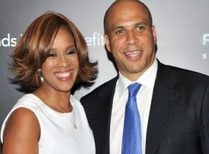 Cory Booker with his ex-girlfriend Gayle
