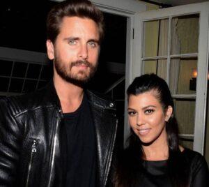 Scott Disick with his ex-girlfriend Kourtney