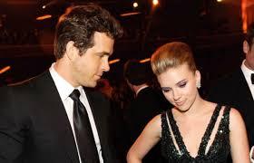 Ryan Reynolds with his ex-girlfriend Scarlett