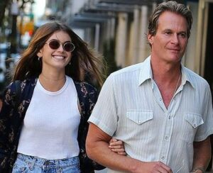 Kaia Gerber with her father